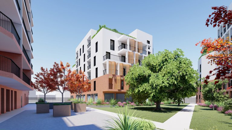 Project management for the construction of the 110 social and free housing units + a senior residence of 60 units in Toulouse